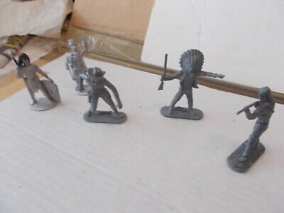 Job Lot  7  Lone Star 3 Unpainted  Metal Standing Figures + 2 Others See Photos • 5.99£