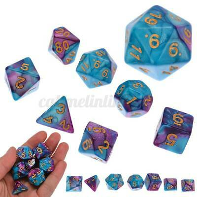6 Set 42pcs Polyhedral Dice DND RPG Game Poker Card Dungeons Dragons Party+Bags • 9.99£