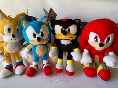 Sega Sonic The Hedgehog Soft Toy - Knuckles, Shadow, Tails, Sonic 12  30cm - New • 13.49£