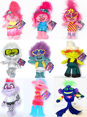 Dreamworks Trolls 2 - Soft Toys - 9 To Choose From - New/licenced 10  - 11  26cm • 10.49£