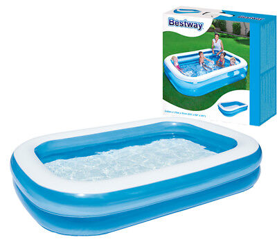 Bestway Large Rectangular Family Swimming Paddling Pool Outside Water Fun  • 34.45£