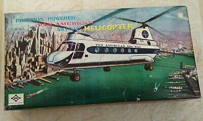 Vintage Daiya Friction Powered Pan American Skyway Helicopter (Boxed) • 125£