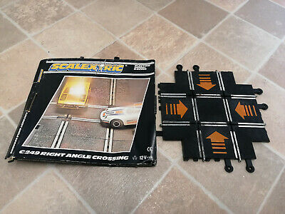SCALEXTRIC C249 Vintage Angle Crossing With Orange Arrows With Original Box • 10£