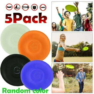 3/5x Pocket Flexible Catching Flying Disc Soft Mini Frisbees Sports Finger Spin • 6.78£