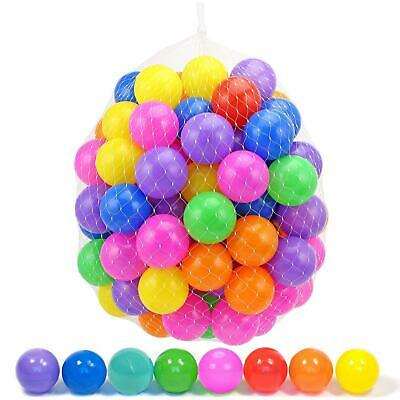 100 Kids Childrens Plastic Play Balls Ball Pits Pen Pool Multicoloured Toy Soft • 7.95£