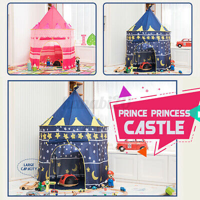 Kids Pop-up Princess Castle Play Tent Teepee Toddler Indoor Outdoor Play House • 12.94£