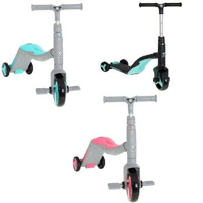 Scooter Kids Child 3 In 1 Three Whell  Adjustable  Bike Seat Walker Ride Music • 79.99£