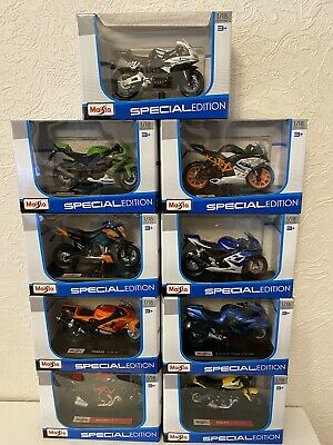 Maisto 1:18 Diecast Special Edition Motorcycle Collection 9 X Model Set • 59.99£