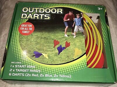 Boxed   Outdoor Darts   Great Fun For All The Family • 3.20£