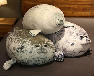 Plush Toy Seal Ocean Chubby Blob Kids Gifts Cute Animal Pillow Doll Pet Stuffed • 19.68£