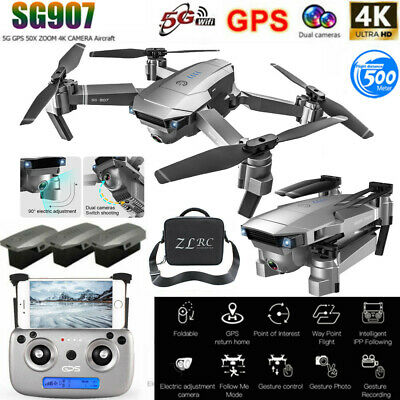 SG907 GPS Drone With 4K HD Dual Camera WIFI FPV RC Quadcopter Foldable Drone • 127.76£
