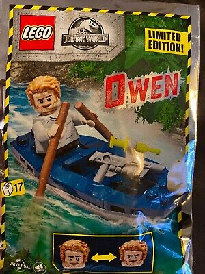 LEGO Jurassic World : OWEN & BOAT Polybag Set 122007 • 2.99£