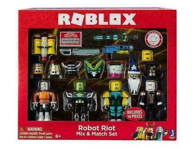 Roblox Robot Riot 4 Figure Pack Mix & Match Set Action Figure Toy Kids Xmas Gift • 8.96£