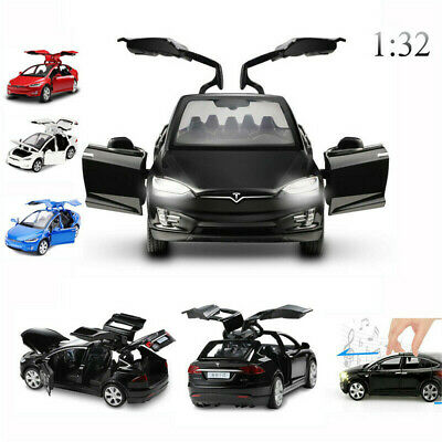 1:32 Diecast Tesla Sound And Light Model Toy Cars Alloy Pull Back Car Kids Gift • 14.39£