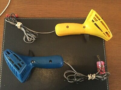 2 X Vintage Scalextric C 265 Hand Throttle Controllers Yellow And Blue Ref 8084 • 7.95£