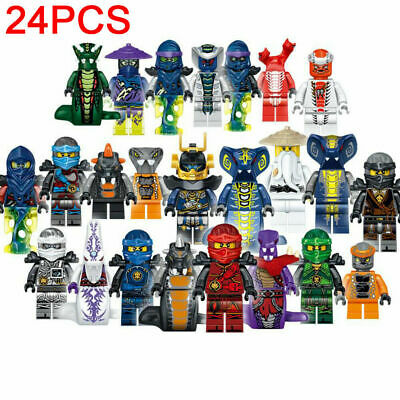 Ninjago 24pcs/set Mini Figure For Lego Kai Jay Building Blocks Kids Toys Gifts • 9.66£