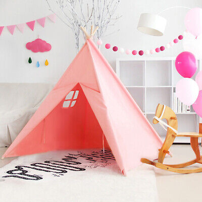 Cotton Linen Kids Teepee Tent Indian House Children's Private Playground Room • 23£