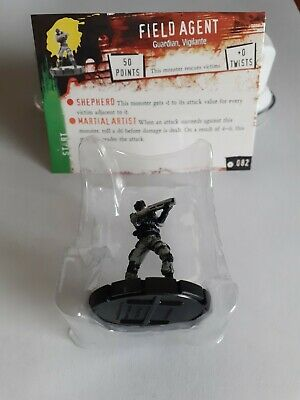 Horrorclix *FIELD AGENT* No:- 082 With Character Card / New & Unused • 1.99£