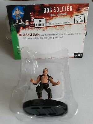 Horrorclix *DOG SOLDIER* No:- 002 With Character Card / New & Unused • 1.99£