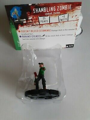 Horrorclix *SHAMBLING ZOMBIE* No:- 029 With Character Card/New & Unused • 1.99£