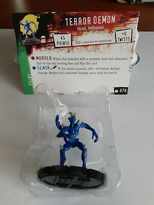 Horrorclix *TERROR DEMON* No:- 076 With Character Card / New & Unused • 1.99£