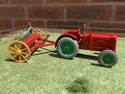 Vintage Charbens Tractor Dinky 1/43 Scale Farm With Dinky Hay Rake • 11.01£