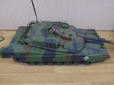 RC M1A1 Abrams Tank With Light And  Sound Ripmax 1.16 WORKING • 5.50£