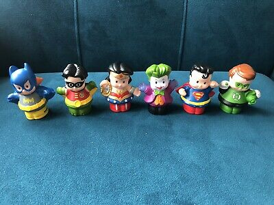 Fisher Price Superheroes Toy Little People X 6 • 14.99£