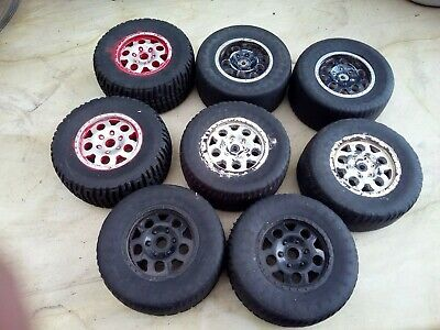 2 Sets Of 2WD 1/8 Scale Wheels And Tires. • 6.99£