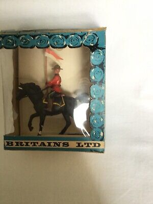 Vintage BRITAINS, 1960's, Boxed Mountie, 54mm Scale. • 14.99£