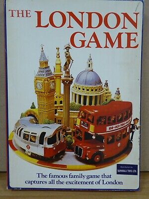 The London Game Board Game Vintage  Underground 1972 Bambola  • 4.99£