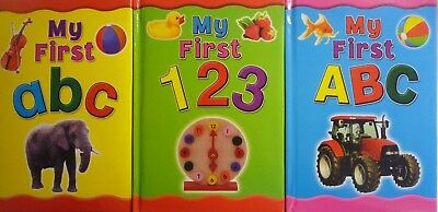 My First ABC And 123 Padded Colourful Picture Educational Early Learning Book • 2.99£