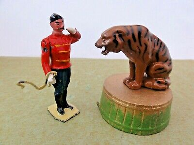 Vintage Lead Britain's Circus Lion Tamer And Lion • 14.95£