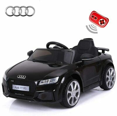 Kids Fully Licensed Audi TT RS 6V Battery Powered Ride On Car Toy Black W/remote • 16£