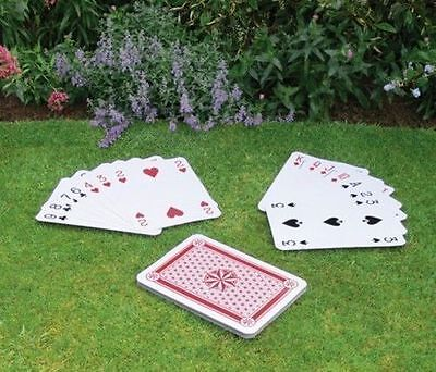 New Giant A3 Playing Cards Full Deck 37cm X 26.5cm Play Your Cards Right • 9.99£
