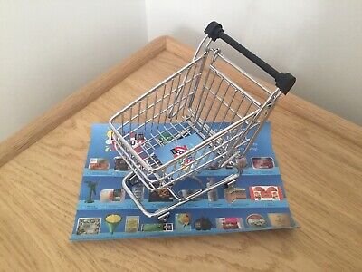 BNWT M&S Little Shop 2 My Little Trolley Metal Shopping Toy &Stickers Age 3+ NEW • 8.95£