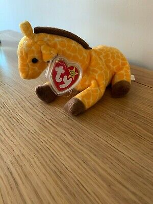 Ty Beanie Babies Twigs The Giraffe Mint With Tag 1995 • 3£