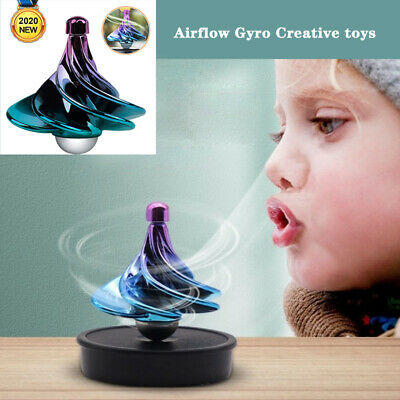 Spinning Top Toy Wind Gyro Wind Blow Turn  Airflow Gyro Desktop Decompression • 5.60£