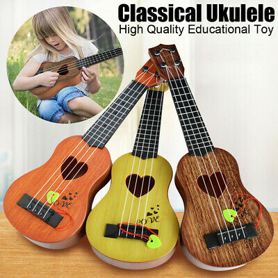 Kids Baby Beginner Classical Ukulele Guitar Educational Music Instrument Toys • 6.49£