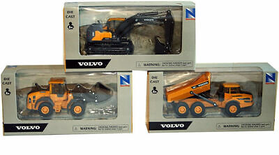 New Ray 1:50 Scale Models Volvo Construction Vehicles EC140E A25G L60H New Boxed • 10.95£