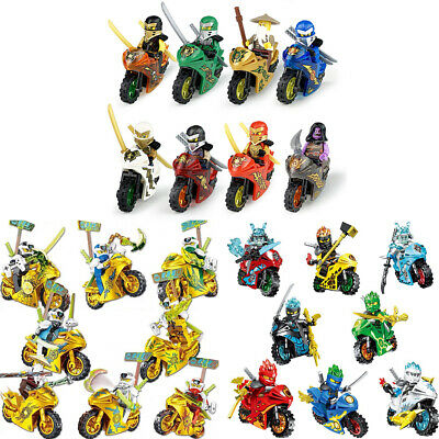 Mini Ninjago 8-24pcs/Set Figure For Lego Kai Jay Building Blocks Toys New UK • 8.98£