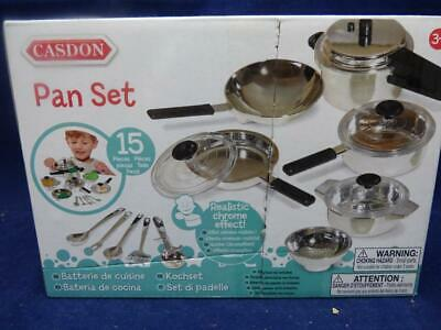 11 Piece. Play Pan Set. By Casdon UK. Lets Pretend With Little Cook.For Ages 3+ • 7.95£