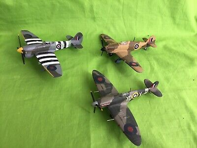 Corgi Hurricane, Spitfire And Typhoon. Used Please Look At Description • 9.99£