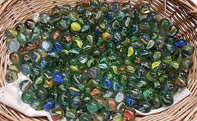 Vintage Glass Cats Eye Marbles, Bundle Of 50 Assorted Colours • 10£
