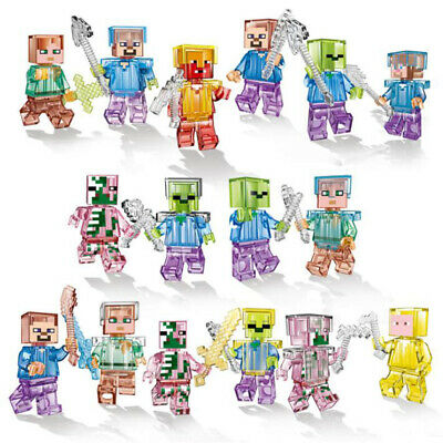 16Pcs Minecraft My World Series Characters MiniFigures Building Blocks Fits Lego • 9.29£