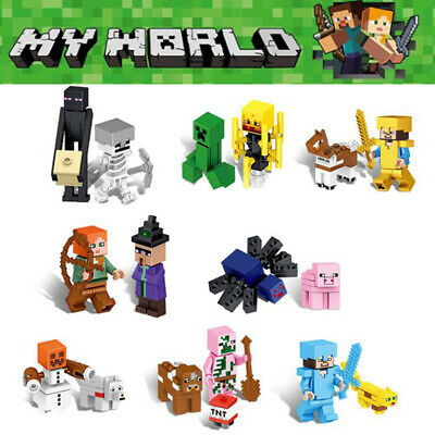 16Pcs Minecraft Blocks Figures Fit Building Characters World Mini My Series Lego • 8.98£