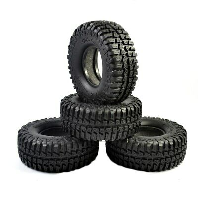 4X 100mm Rubber 1.9  Tire Tyre For 1/10 RC Crawler Axial SCX10 D90 D110 CC01 • 15.99£