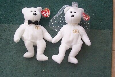 TY Beanies, And Beanies Baby, Bride And Groom, Mr And Mrs. • 5.30£