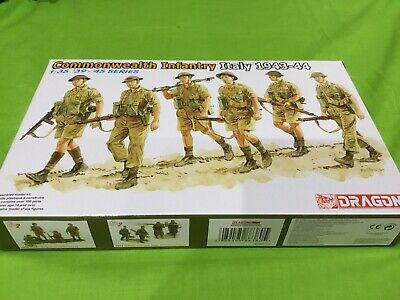 1/35 Dragon Ww2 Commonwealth Infantry Italy 43-44 Factory Sealed • 10£