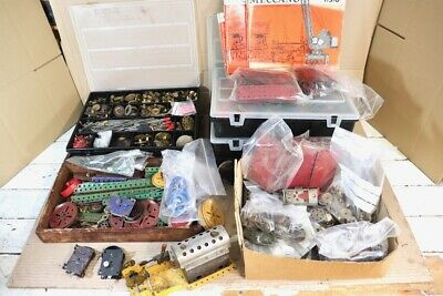MECCANO JOB LOT Of 6 BOXES FULL Of PARTS 1950's With LIVE STEAM BOILER Nw • 400£